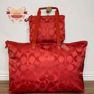 ❤️Coach Signature Nylon Bag & Snap Pouch❤️